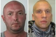 Krzysztof Malkowski (left) should be in prison in Poland for a brutal attack in 2012. Michal Ochecki (right) is wanted to serve a prison sentence for a number of assaults in Poland