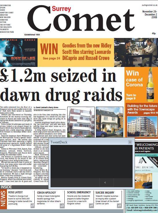 Raids find £1.2m cash and 50 kilos of cannabis