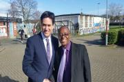 David Wood with Labour leader Ed Miliband