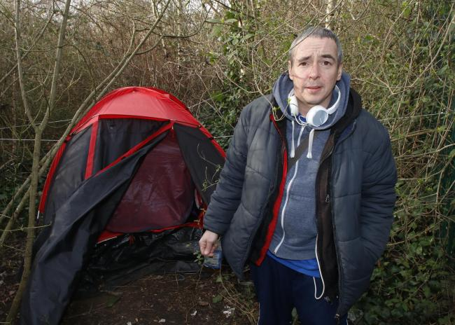 Mystery 'council employee' tries to evict homeless man living in a tent in a Croydon park