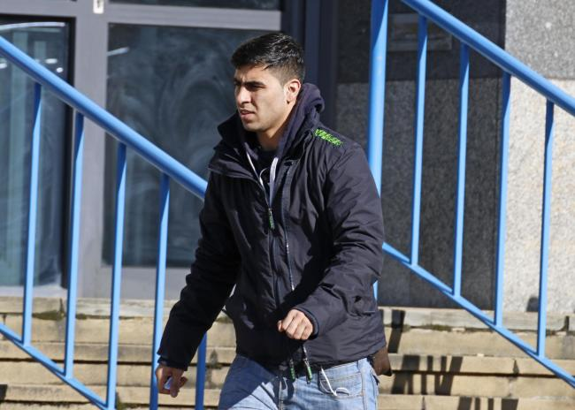 Bahader Hassankhail leaving Croydon Youth Court, where he was sentenced