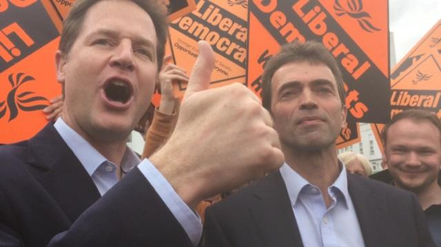 Nick Clegg at St Helier Hospital to support Tom Brake