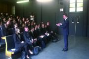 Ambassador: Matthew Barzun speaks to students in Battersea
