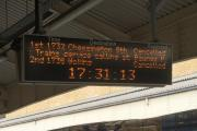 Delays and cancellations on the trains possible until 8pm due to signalling problems