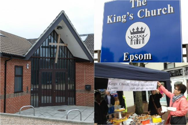 Members of the King's Church, based in Longmead Road, Epsom, have been setting up a marquee outside the Metro Bank in Epsom town centre