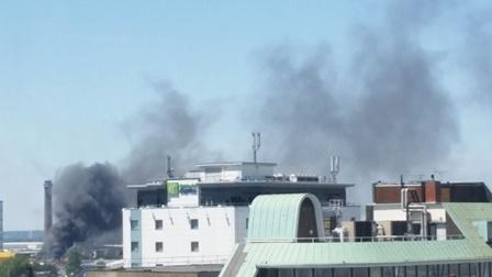 Your Local Guardian: Tyre Factory Fire Pic