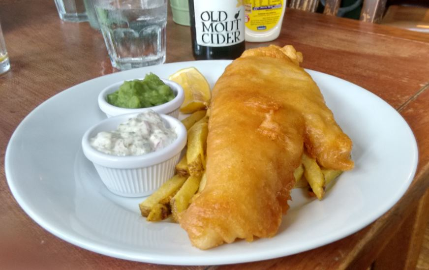 Haddock: The White Swan reeled in our reporter with this tasty main