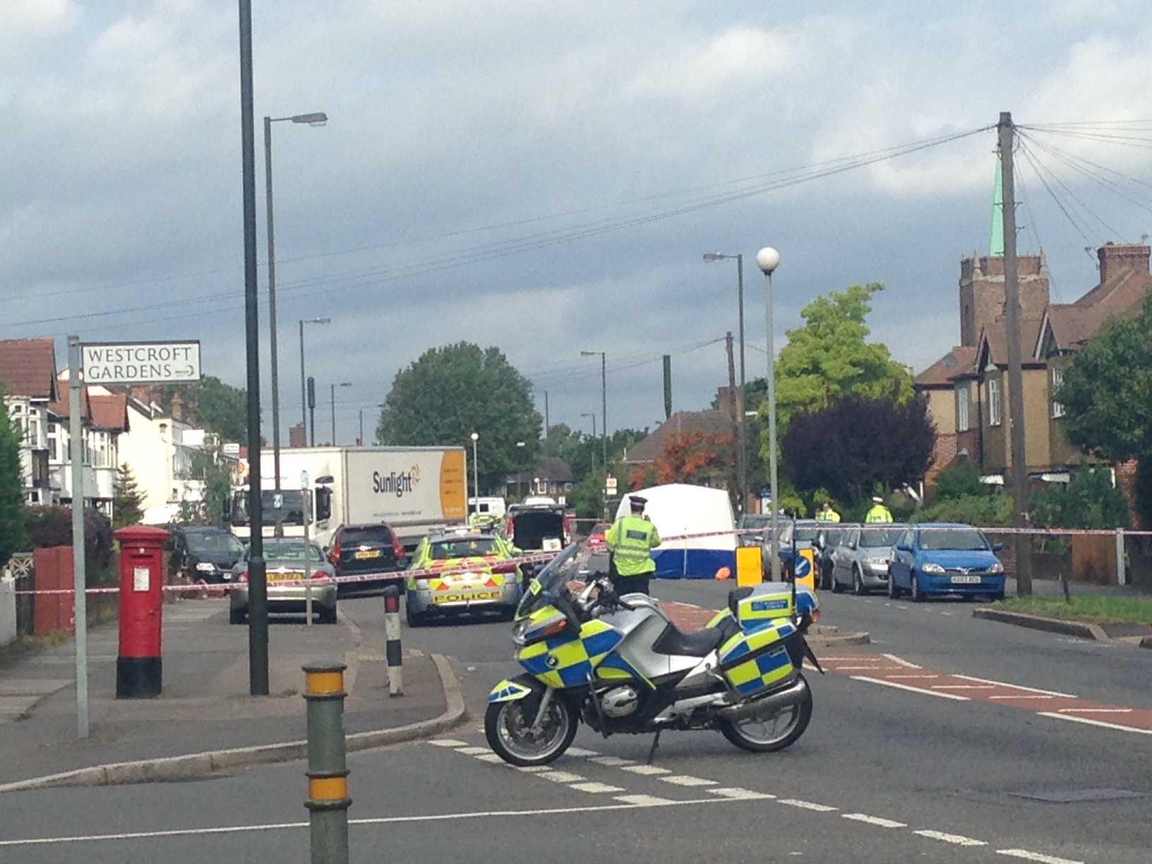 Emergency services from the London Ambulance Service and Air Ambulance attended, but the woman was pronounced dead. Picture: Anthony Cornish