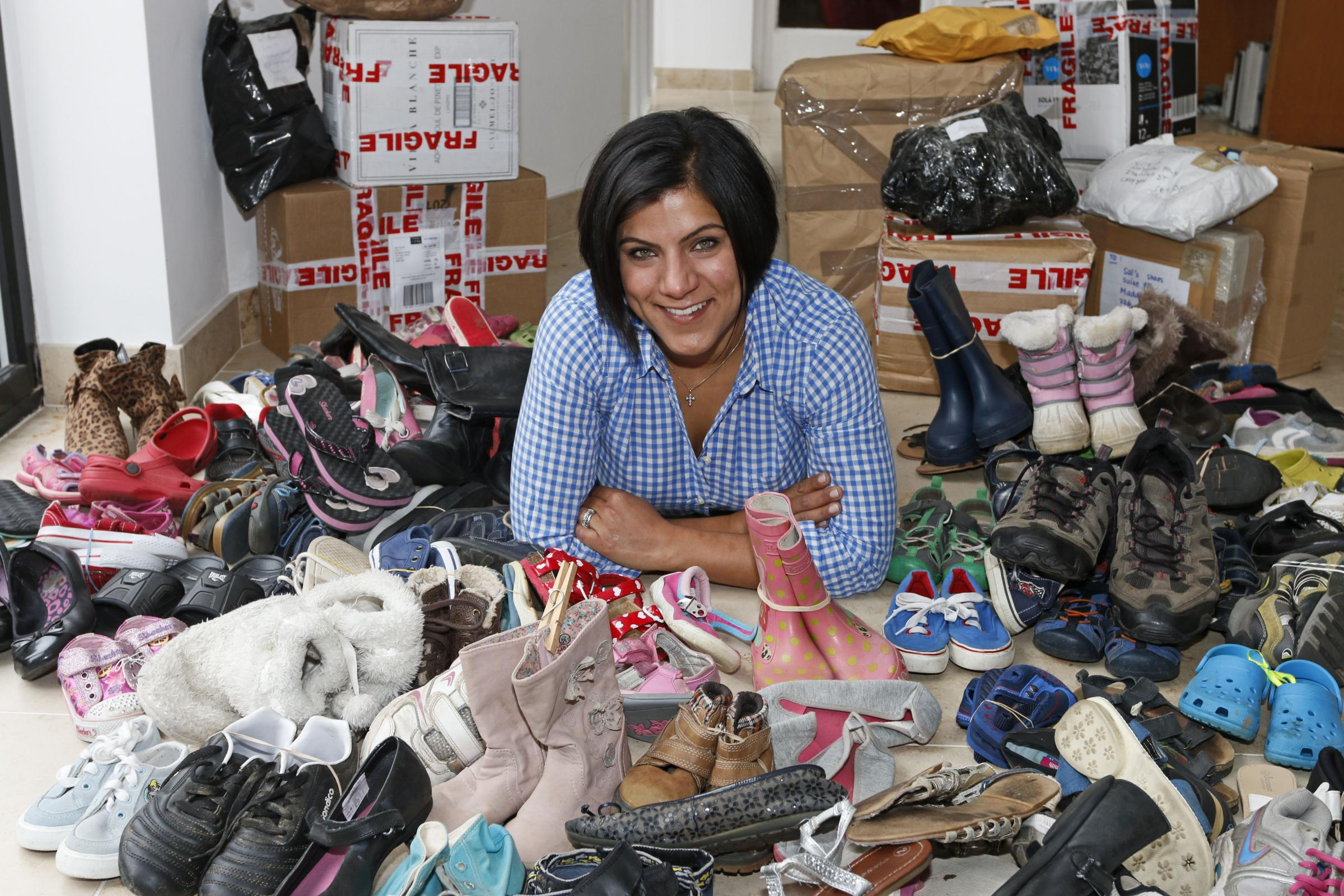 CJ Bowry will send thousands of pairs of shoes to refugee camps in northern Iraq