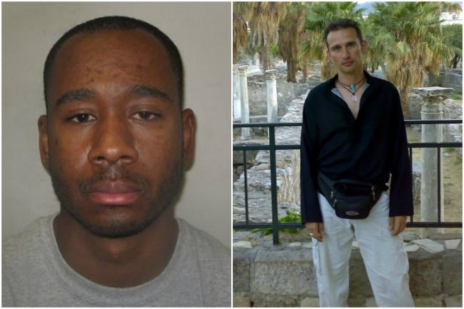 Patten, left, was jailed for life today for killing Menelaos Aligizakis