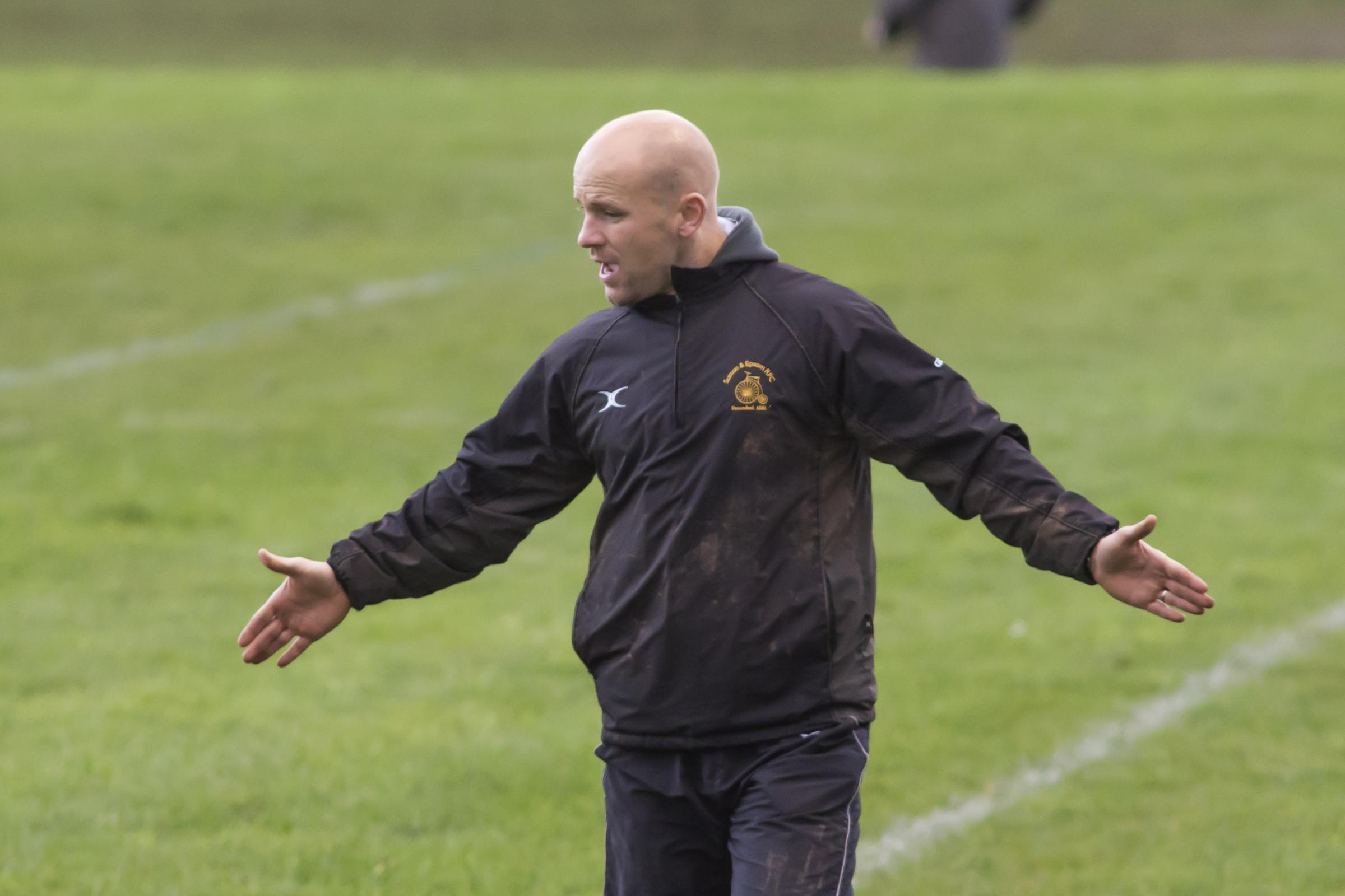 Careful now: Sutton & Epsom boss Lee Cholewa has warned his table toppers against complacency
