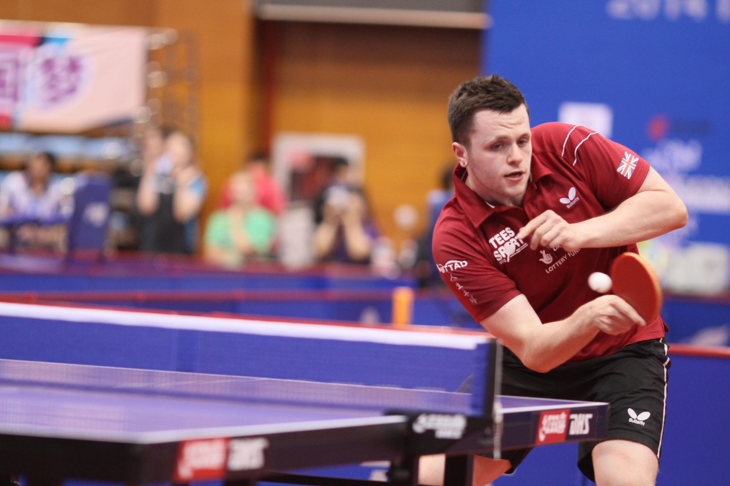 Chinese conqueror: Aaron McKibbin beat the world number two  to win gold in the men's class 8 singles at the PTT China Open in Bejing
