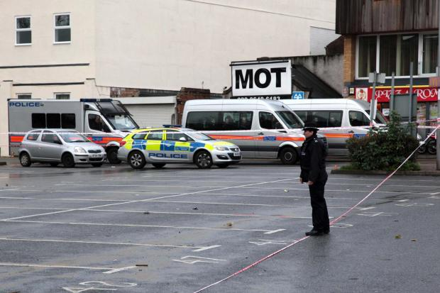 Police were called to Mitcham town centre just after 7pm last night