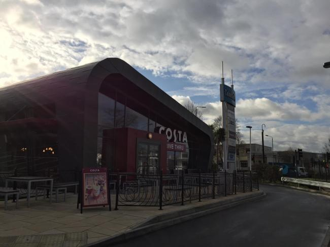 The drive-through Costa Coffee in Croydon opened this week