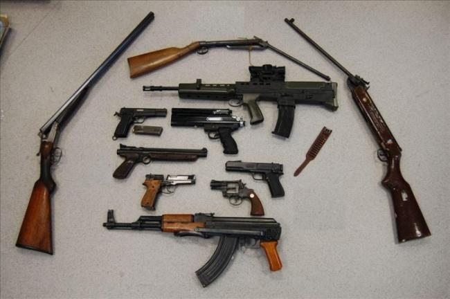 Firearms handed in during the surrender (Metropolitan Police)