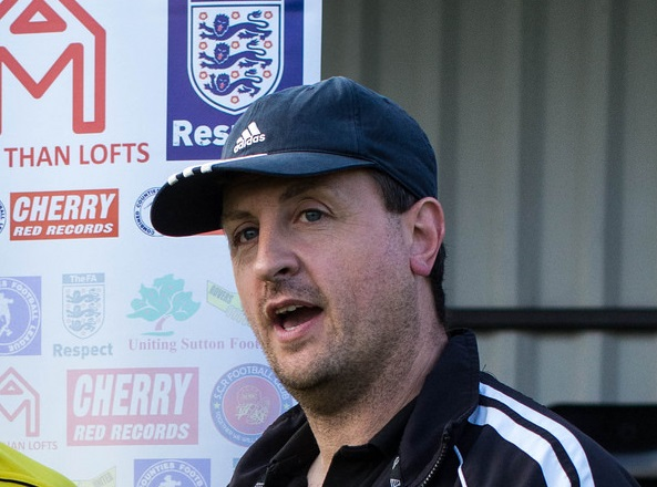 Fingers-crossed: Sutton Common Rovers boss Darren Salmon