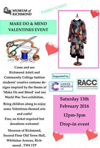 Make Do and Mend Valentines Event