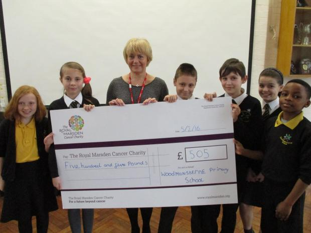 Woodmansterne Primary School children raise money for Royal Marsden Hospital's children's ward