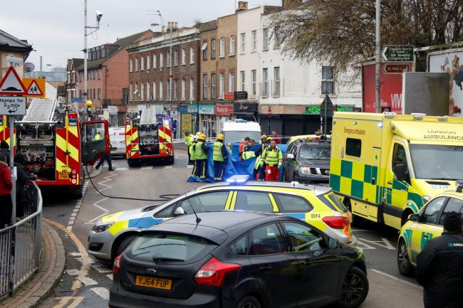 Police, firefighters and paramedics have been called to Portland Road