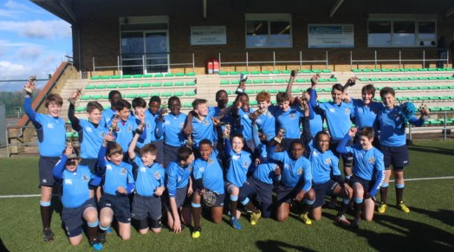 Victorious: Trinity School U13 rugby stars, the School Sports Magazine Cup winners