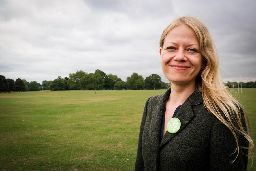 Green Party candidate Sian Berry in Richmond Park