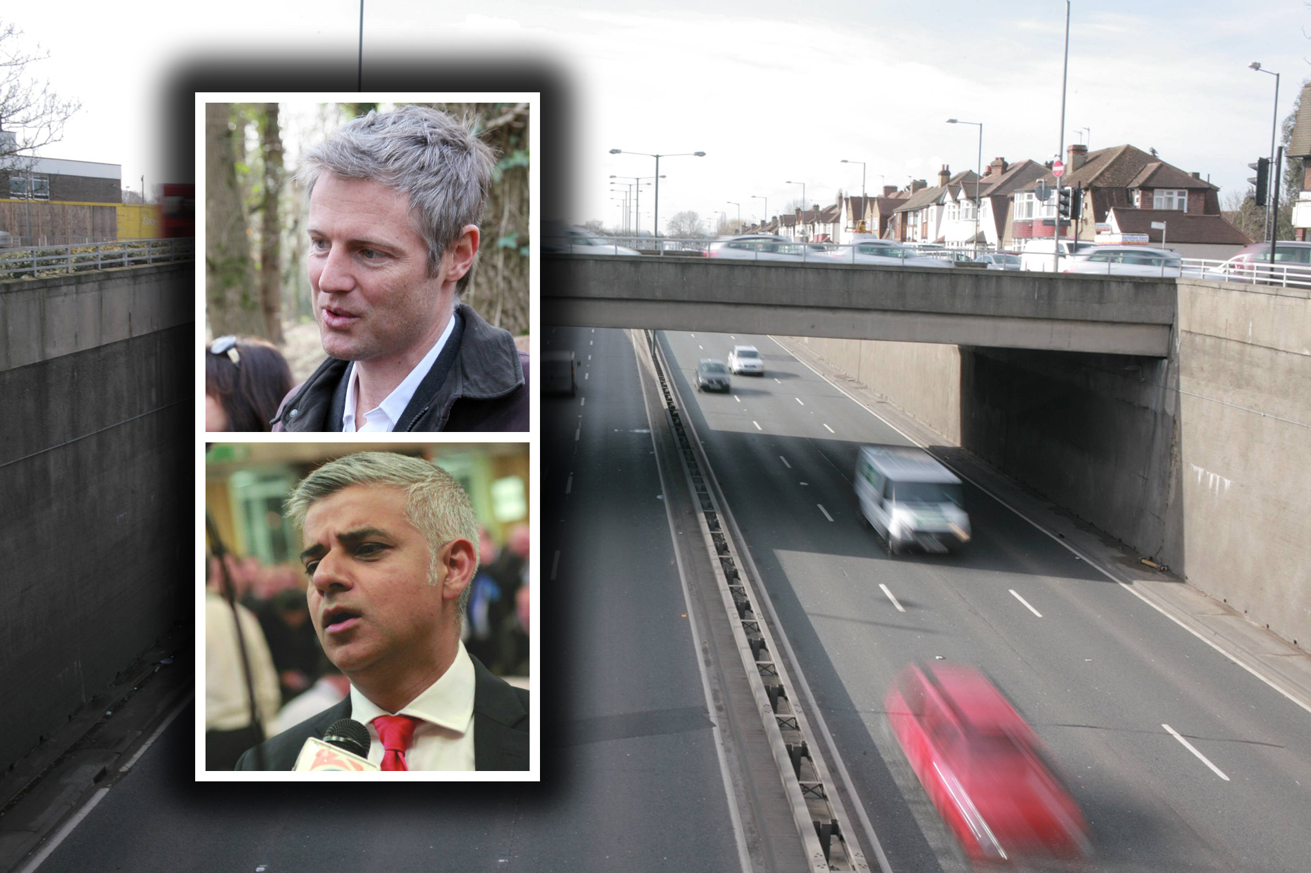 Zac Goldsmith, Sadiq Khan and the underpass at the A3 Tolworth roundabout
