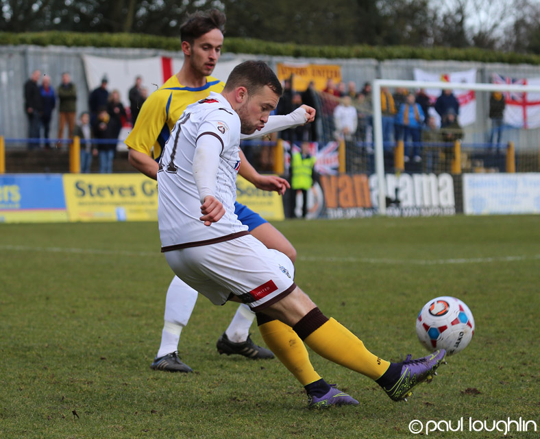 Goal: Ross Stearn scored Sutton United's second goal            Pic: Paul  Loughlin