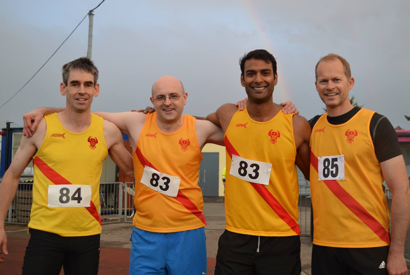 Winners: The Hercules Wimbledon vets relay team of Mike Amsden, Dominic Bokor-Ingram, Vic Ray and Mark White