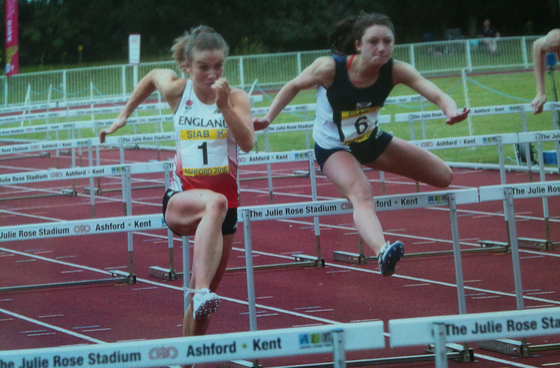 Bouncing back: Pippa Earley, left, put her English Championship disappointment behind her in Loughborough last week