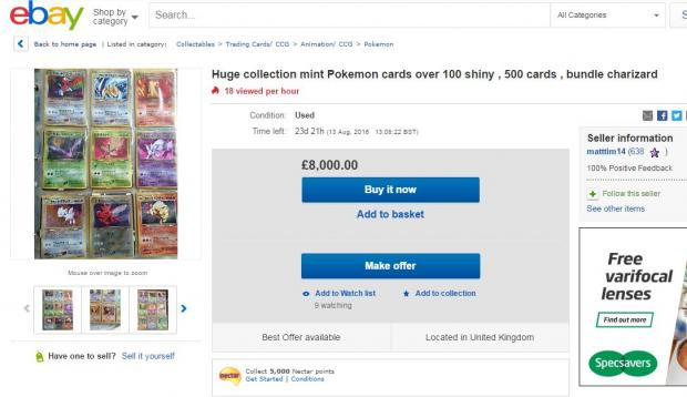 Your Local Guardian: Pokemon cards on eBay