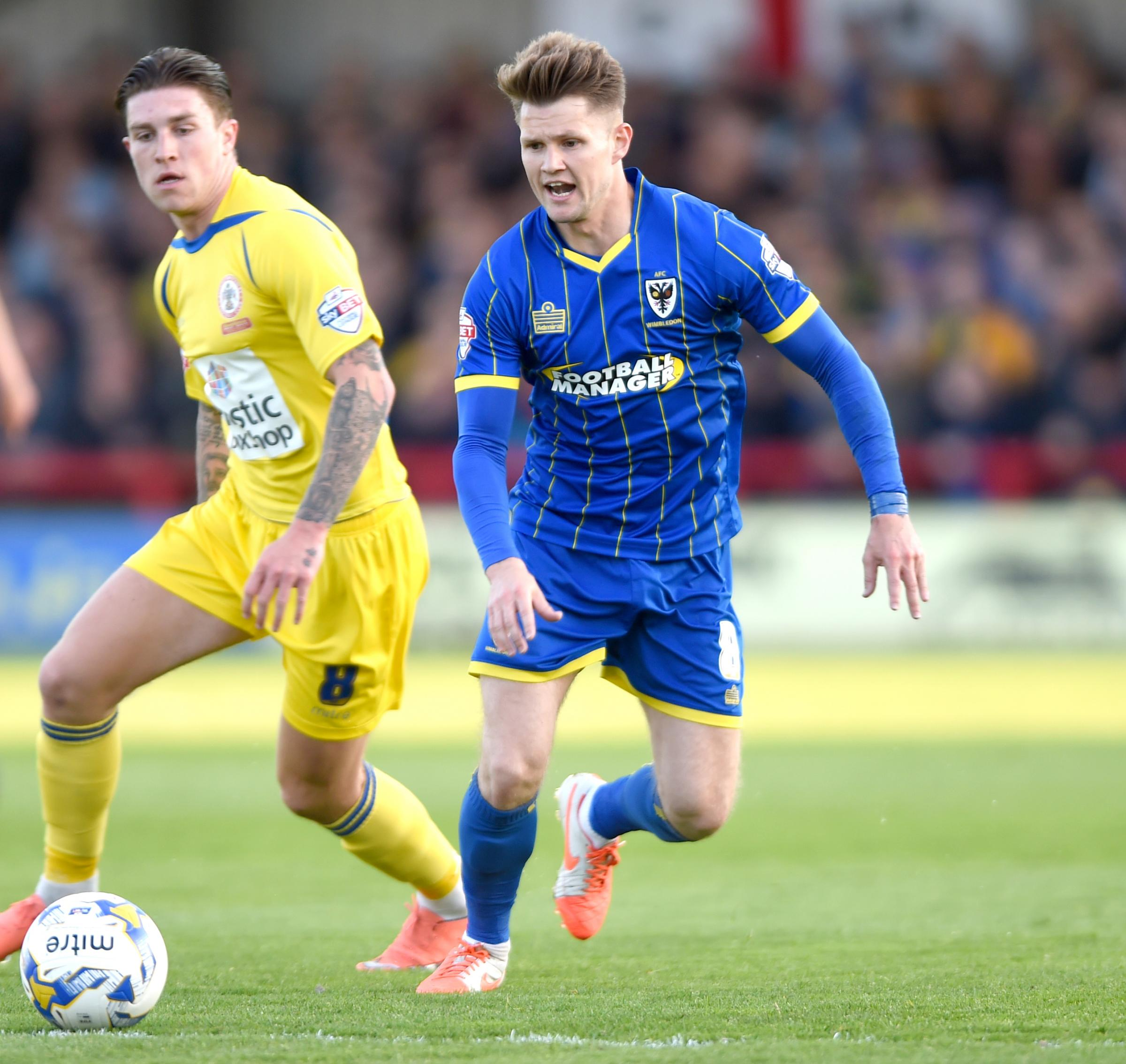 Jake Reeves scored AFC Wimbledon's first goal against Milton Keynes