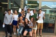 Students from Orleans Park in Twickenham celebrate their results