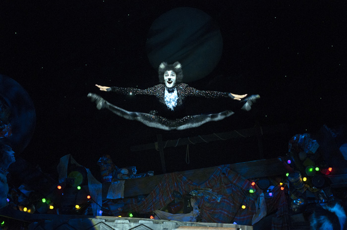 Shiv Rabheru (Mistoffelees) in Cats. Picture: Alessandro Pinna