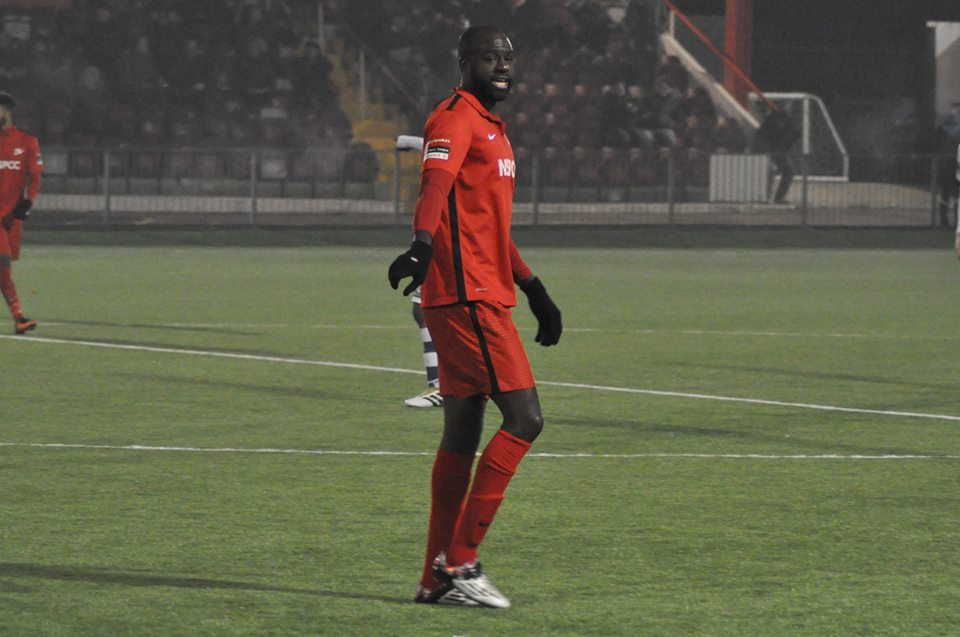 Carshalton Athletic player/manager Peter Adeniyi Picture:  Ian Gerrard