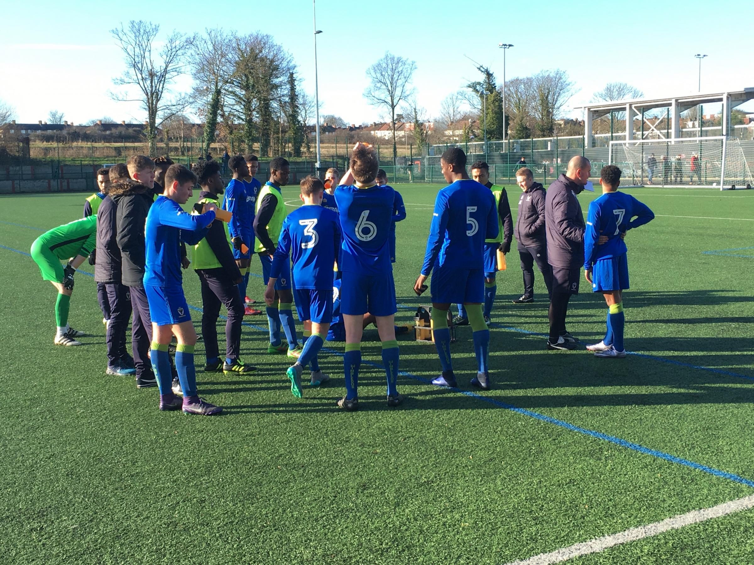 The AFC Wimbledon youth team impressed. Photo: Stuart Deacons of the 9YRS Podcast