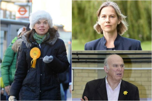 Clockwise from left: Sarah Olney, Tania Mathias and Vince Cable