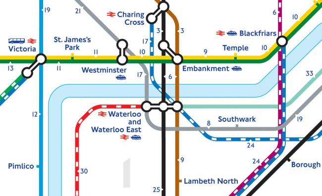 transport for london has released the map to help tourists