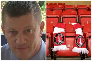 Keith Palmer (left: PA Newswire/ Met Police) was killed while protecting the Houses of Parliament. Charlton FC have paid tribute (right: Photo: Charlton Athletic FC/PA Wire)
