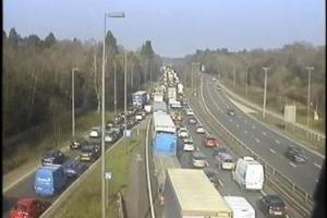 Traffic is queuing on the A3 northbound (pic: Highways England)