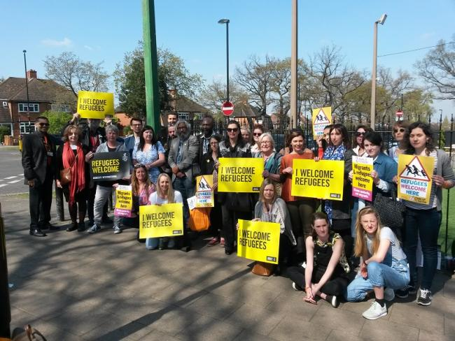 'this is not what Croydon is' Croydon young refugee network stand together at the spot where asylum seeker was badly beaten