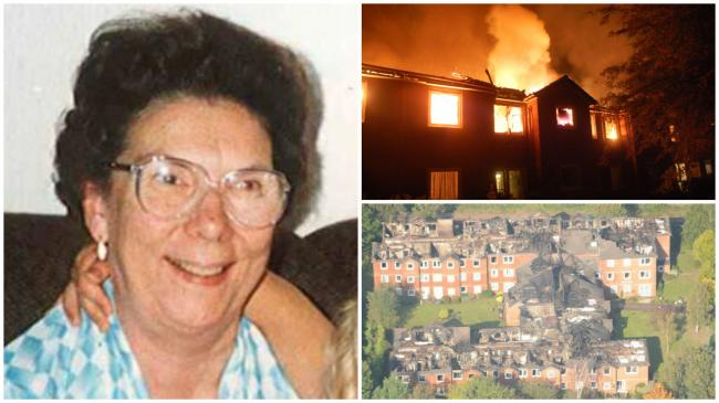 Irene Cockerton and Gibson court when it was on fire, and the aftermath