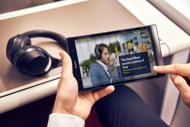 Sony and Eurostar have launched the Sound Menu so passengers can play music to suit their mood while travelling by train