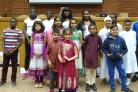Children from the Hertsmere Forum of Faith stand together at a previous event