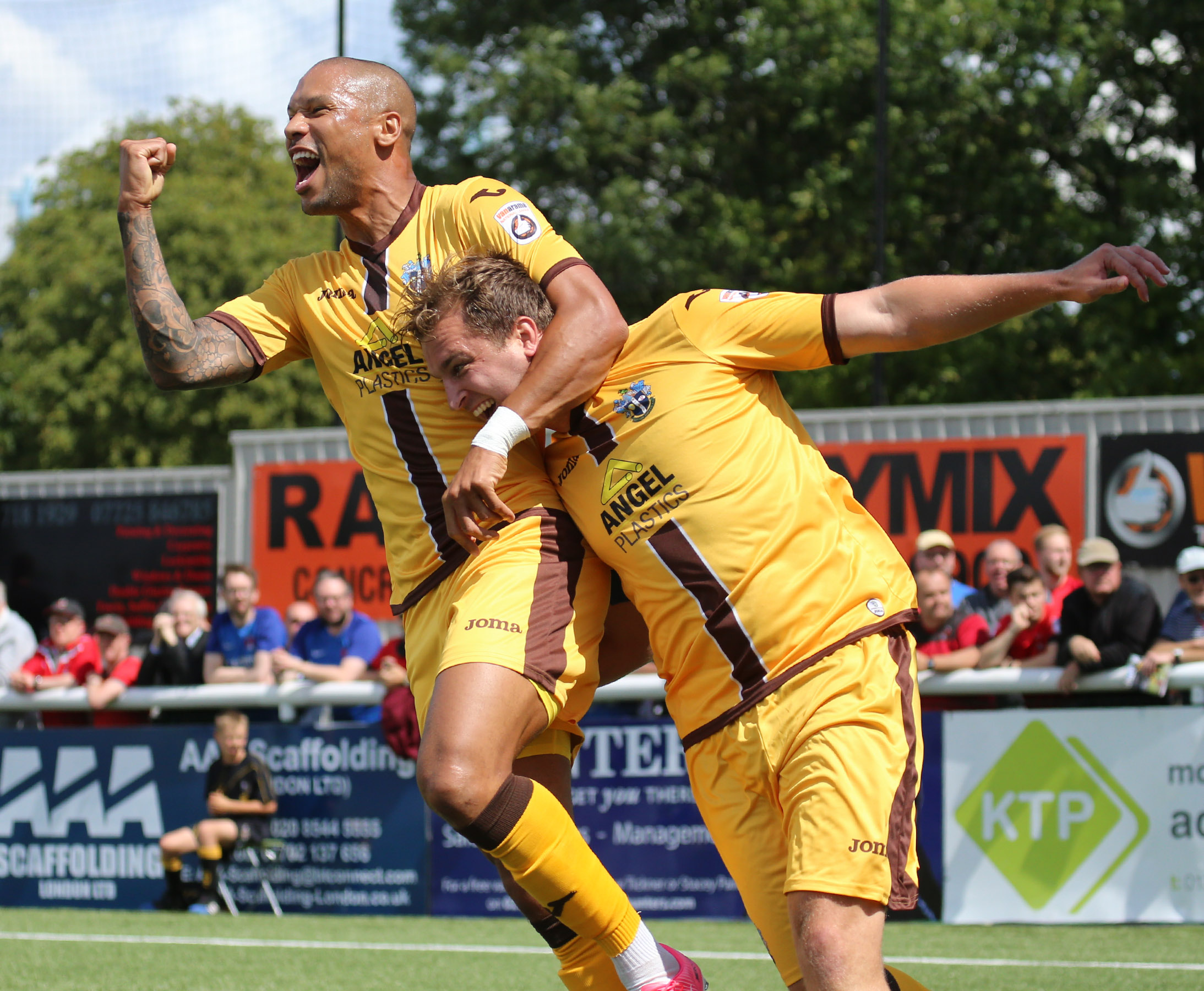 Sutton United are just one win away from the Vanarama National League play-off final. Picture: Paul Loughlin