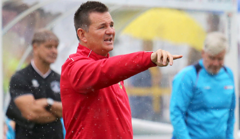 Sutton United manager Paul Doswell is expecting a tough match at Brackley Town  this Saturday. Picture: Paul Loughlin