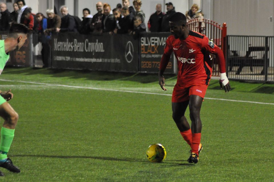 Raheem Sterling-Parker is enjoying life at Carshalton Athletic under player/manager Peter Adeniyi. Picture: Ian Gerrard