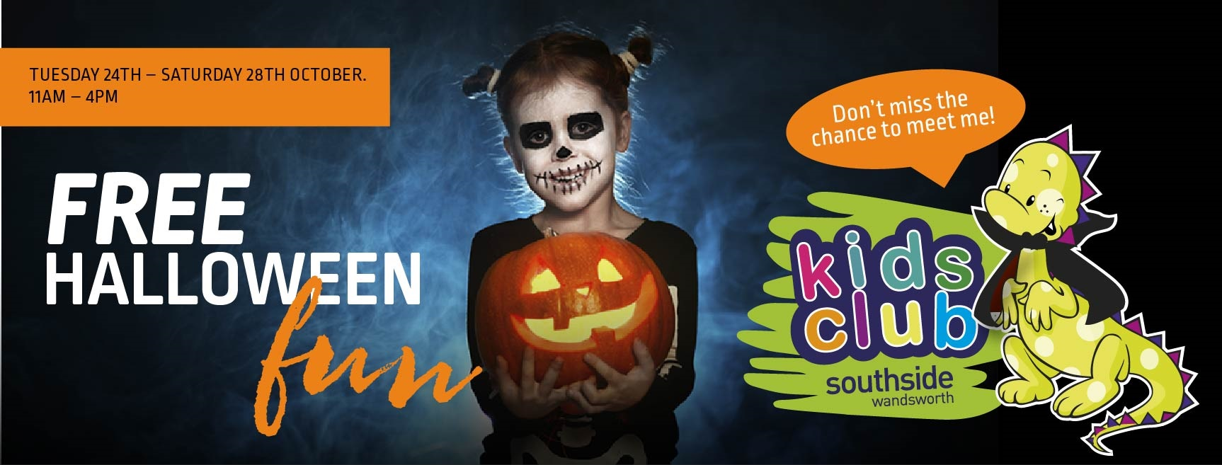 Free Halloween Half Term Fun and prizes to be won at Southside