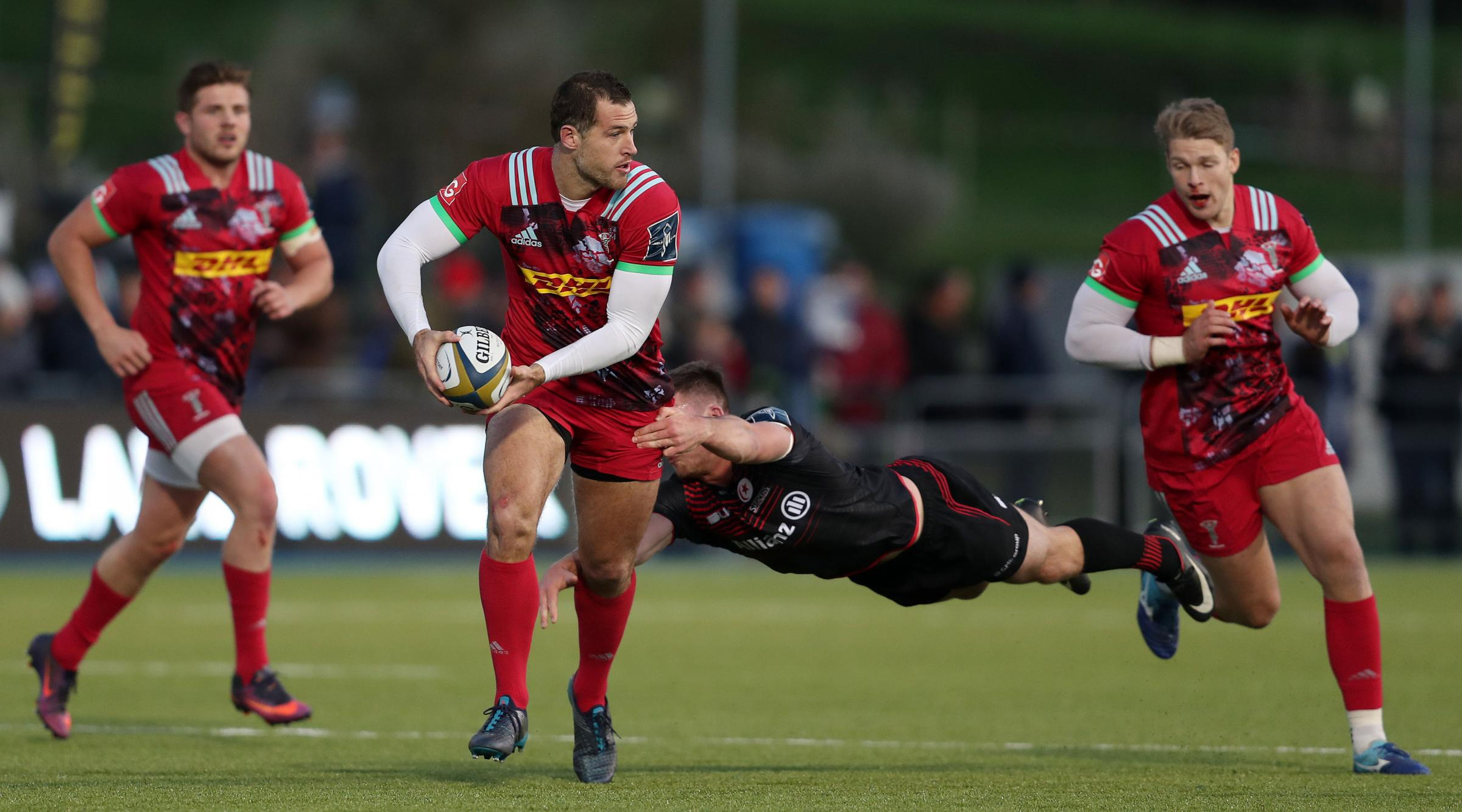 Harlequins' Tim Visser (middle) | Picture: David Davies/PA Wire