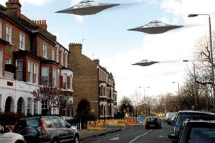 The truth is out there... An artist's impression of the alien invasion