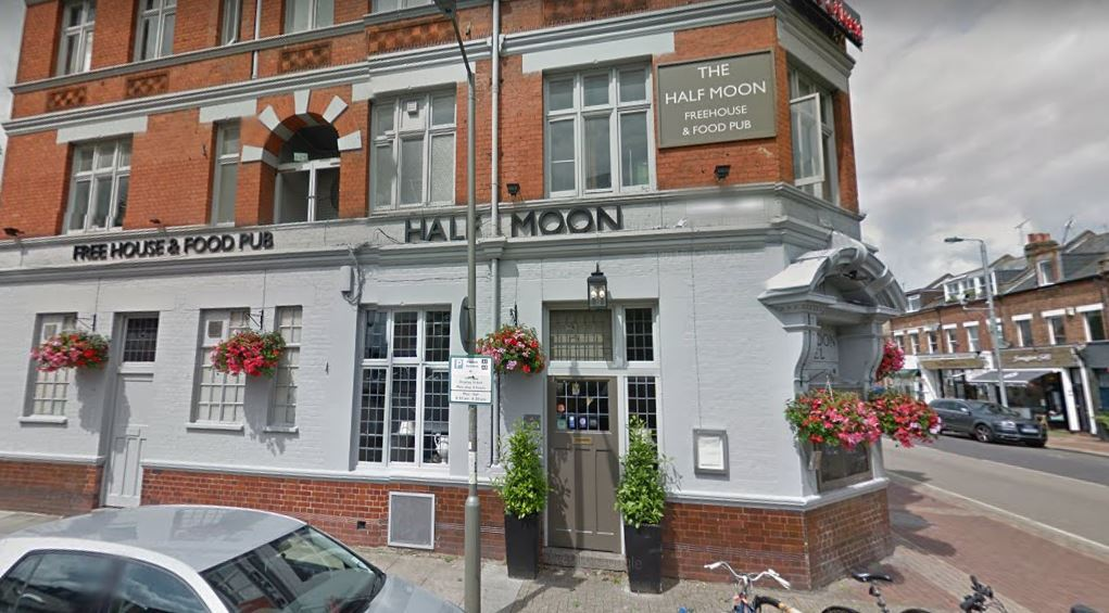 The Half Moon Putney, in Lower Richmond Road. Photo: Google Maps / Street View